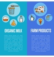 Organic dairy products vertical flyers vector image vector image