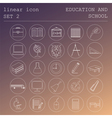 Outline icon set Education and school Flat linear vector image vector image