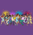 party at club dancing young people vector image