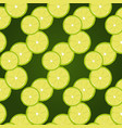 pattern with green lime slices vector image vector image