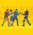 people box with a robot humanity and new vector image vector image