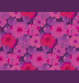 pink and violet poppy flower meadow vector image vector image