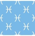 Pisces seamless pattern vector image vector image