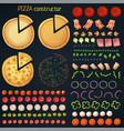 pizza constructor cartoon vector image vector image