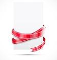Promo tag Red ribbon vector image vector image