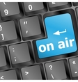 Radio on air button on computer keyboard business vector image vector image