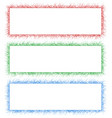 Red green and blue sketch banner frame set vector image vector image