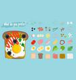 sandwiches cartoon elements vector image vector image
