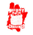 santa claus red bag in grunge style spray and vector image vector image