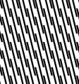 Seamless monochrome angular line pattern vector image vector image