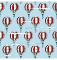 Seamless Pattern with Red and White Balloons vector image vector image