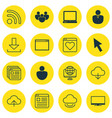 set of 16 internet icons includes team mouse vector image vector image