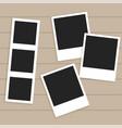 set of empty photo frames vector image vector image