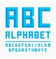 Set of letters alphabet blue vector image vector image