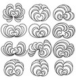 set of twelve decorative floral curls vector image vector image