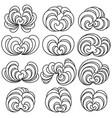 set twelve decorative floral curls vector image vector image