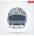 Sports symbol helmet of American football with