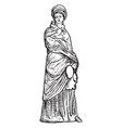 terracotta statuette are wearing chiton and vector image vector image