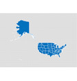 usa mercator map - high detailed blue map with vector image vector image
