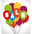 colored balloons sale design vector image