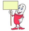pill cartoon character vector image