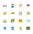 Flat Education Icons - Set 1 vector image