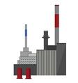 Industrial building factory vector image