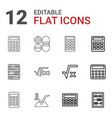 12 calculate icons vector image vector image