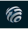 abstract web icon globe logo element vector image vector image