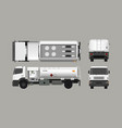 air fuel truck front side top and back view vector image vector image