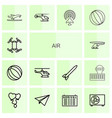 air icons vector image vector image