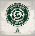 alternative recycling and reusing stamp vector image vector image