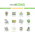 ancient greece - modern line design style icons vector image