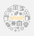 apiary circular in outline vector image