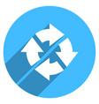 arrow sign rotation icon circle button vector image vector image