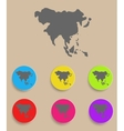 Asia Map - icon isolated vector image