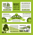 banners for save earth and nature ecology vector image vector image