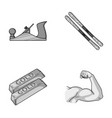 building finance and other monochrome icon in vector image