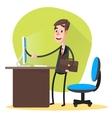 Businessman Contract Online vector image vector image
