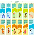 calendar 2015 with funny sheep vector image