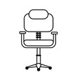 chair office silhouette vector image vector image