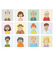 characters avatars collection vector image