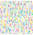 colorful letters seamless pattern vector image vector image