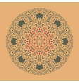 colorful round floral ornament vector image