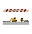 Construction machines icons vector image vector image