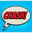 Crash comic book bubble text retro style vector image vector image
