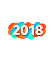 creative happy new year 2018 card design vector image vector image