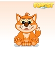 Cute Cartoon Red Fox Funny Animal vector image