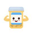 cute happy smiling strong medicine vector image vector image