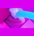 cyberpunk flow fluid lines on relief vector image vector image